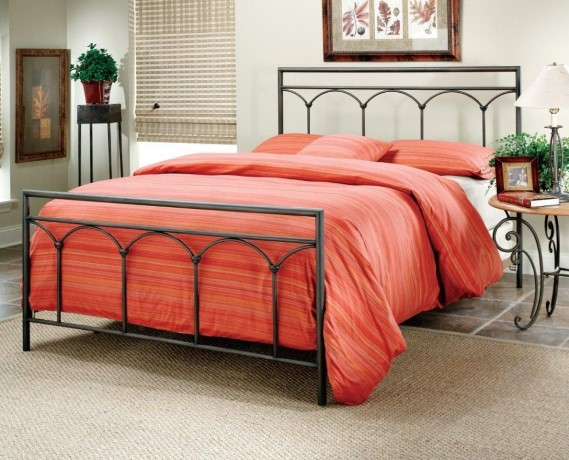 Kent Metal Bedframe in black
