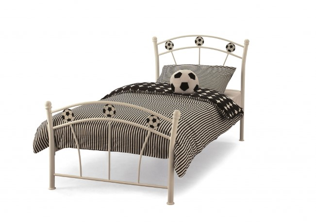 Serene 2ft 6in White Soccer bed