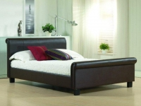 Aurora Faux Leather bedstead