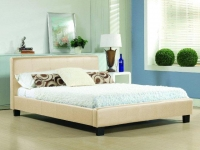 Hamburg cream faux leather bedstead