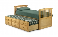 Julian Bowen Hornblower Cabin bed in Pine