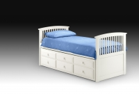 Julian Bowen Hornblower Cabin bed in white