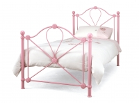 Serene Lyon Metal Bed Pink