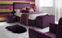 Room setting in Mock Croc Blackcurrant