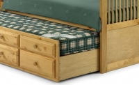Pull-out bed and drawers example