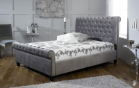Limelight Orbit Bed in Silver