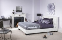 Serene Roma faux leather bedstead