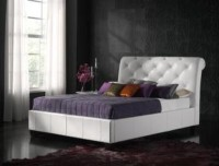 Kaydian Opera Leather Bedstead White