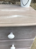 Rustic bedside tables close up